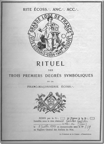 Rituels GLDF 1904