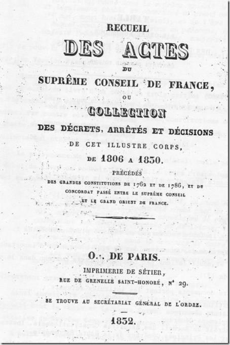 recueil des actes du SCDF